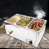 GN Pan - Calentador eléctrico para platos de baño de agua (3 x 7 l)