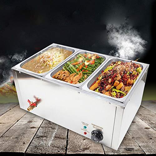 GN Pan - Calentador eléctrico para platos de baño de agua