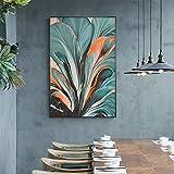 ganlanshu Pintura sin Marco Hoja de Arte Abstracto Sala de Estar Dormitorio decoración Moderna del hogar Pintura Lienzo Pintura Pintura de la paredCGQ8584 50X75cm