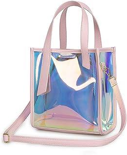 Fanspack Women Shoulder Bag Creative Holographic Handle Bag Tote Handbag with Inner Purse
