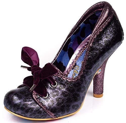 #Irregular Choice Chips & Gravy Purple Black Womens Hi Heels