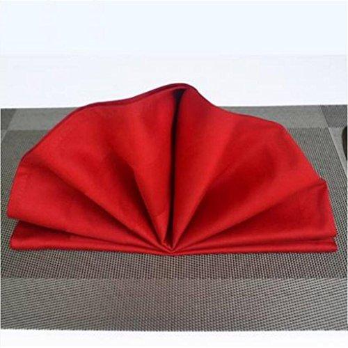 MXJ61 Chiffon de bouche de tissu de serviette de coton d'hôtel de cinq étoiles 56 * 56cm ( Couleur : Rouge , taille : 4 Pcs/Set )
