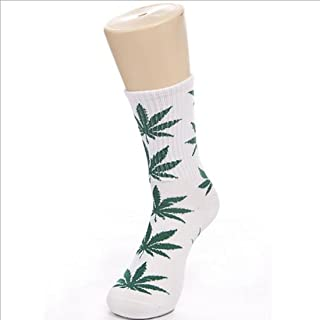 Maple Leaf Shape Socks Mediana Weed Socks Leisure Style Socks Ultrathin Sexy Stretch Warm Medias Niñas Señoras Mujeres 1Pairs