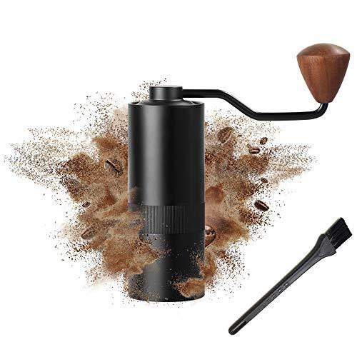 SEAAN Molinillo manual de café con molinillo de café de mano ajustable de alta precisión con mango plegable y doble posición de almacenamiento, apto para viajes o camping.