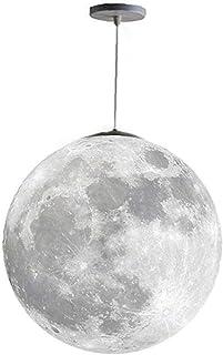 linjunddd Techo Luna Colgante De La Lámpara De Luz con Lámparas De Araña 3D Impresión De Control Remoto Led Bombillas Planeta por Habitación De Los Niños Oficina Útil De La Lámpara