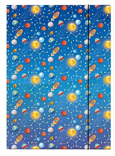 Veloflex 4432984 - Sammelmappe Space, DIN A3, Karton glanzkaschiert, mit Gummizug, 1 Stück