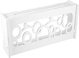 WINOMO Router De Armazenamento Caixa Soco- Livre de Gerenciamento de Cabo Set- Top Box de Rack Rack de Soco Soco Livre- Ro...