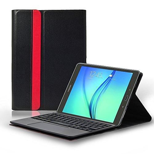 Sharon Galaxy Tab S2 9.7 Schutztasche mit herausnehmbarer Tastatur und integriertem Multitouch-Touchpad | Deutsches QWERTZ- Layout