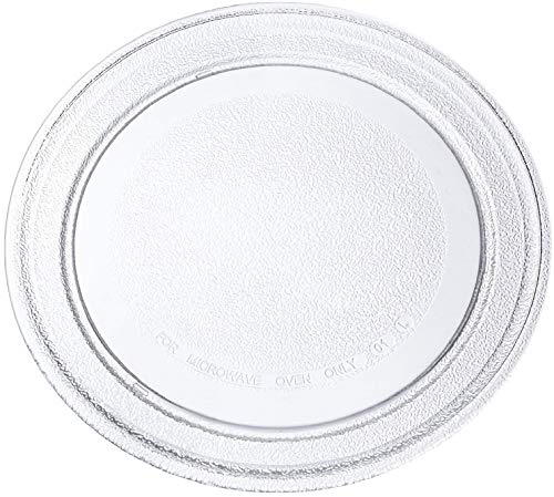 Irkaja 9.6 inches/245mm Diameter Microwave Oven Replacement Turntable/Rotating/Baking Glass Tray/Plate with Flat...