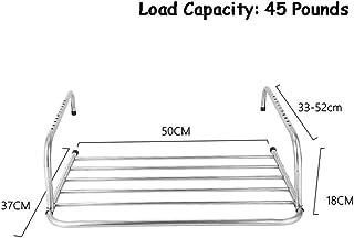 Radiador De Secado De Acero Inoxidable Estante De Secado Radiador Toalla De Ropa Ropa Plegable Ropa Secadoras De Aireador Secadora De Barra De 6 Rieles Para Servicio Pesado Interior O Exterior,50x37cm