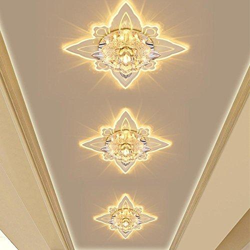 Créative Corridor Spot de Marche acrylique Crystal Lampe murale Lampe de chevet lumière ffekt Lumières encastrable Downlight Lampe Intégrée Plafonnier Applique murale fer LED 3 W Spot de plafond