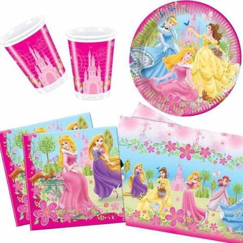 Party Bags 2 Go - Servizio da tavola per feste, per 10 persone, tema: Principesse Disney al palazzo d'estate