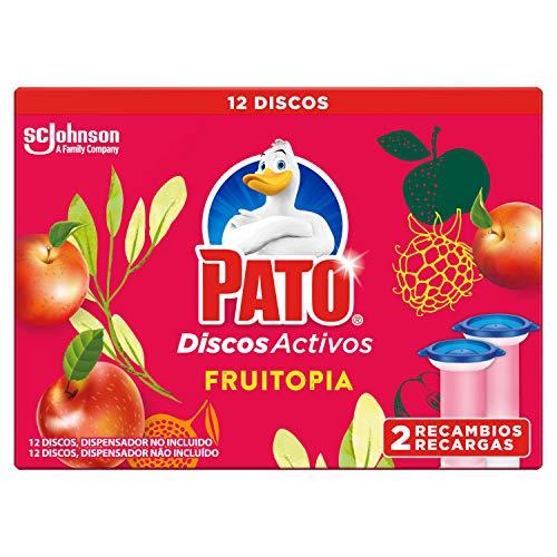 Pato Pato - Discos Activos Wc Recambio Fruitopia, 2 Recambios, 12 Discos 150 g