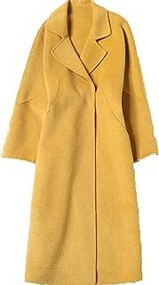 Warm Outwear Womens Winter Lapel Coat long double-faced jacket A word version big pendulum Overcoat