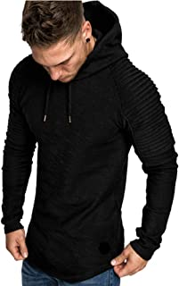 Men Hoodie Muscle Long Sleeve Bodybuilding Hoody Gym Tops Hooded Coat Jumper
