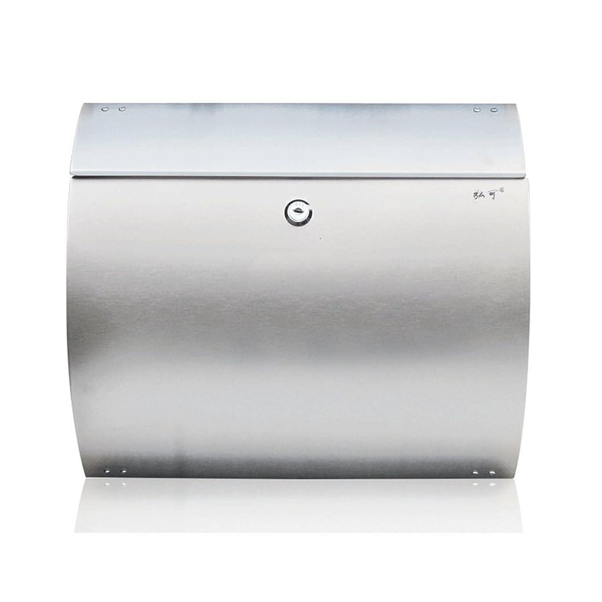 しばしば佐賀意識的TLMY ステンレス鋼のレターボックス屋外ヨーロッパのヴィラレターボックスの壁掛けメールボックスレインメールボックス メールボックス