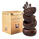 ELAFI Coconut Bowls | Buda Bowl | Cuenco de coco para tu Acai Bowl | Cuenco de cereales de coco auténtico | Jumbo Bowl Coco Set de Coco