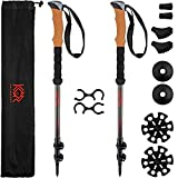 KOR Outdoors Carbon Fiber Trekking Poles - Lightweight and Compact Hiking Sticks for All Seasons - with Rubber Tips, Mud and Snow Baskets - 24-54' Telescopic Walking Gear with Adjustable Wrist Straps