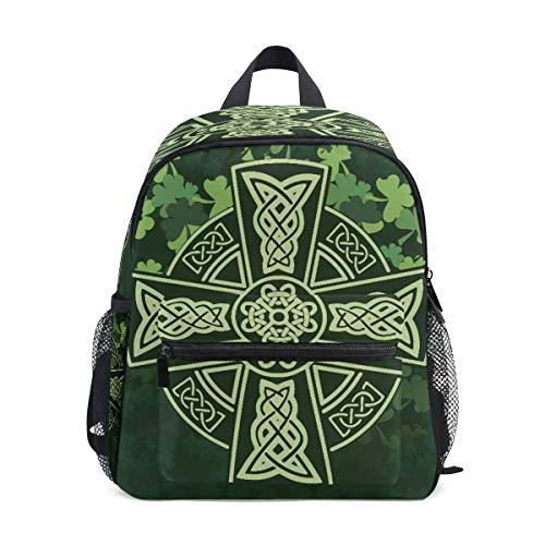 Cat Mini mochila para niños preescolar, guardería, bolsa para niños, Cruce Celta Trébol 5 (Multicolor) - A01E18011-A