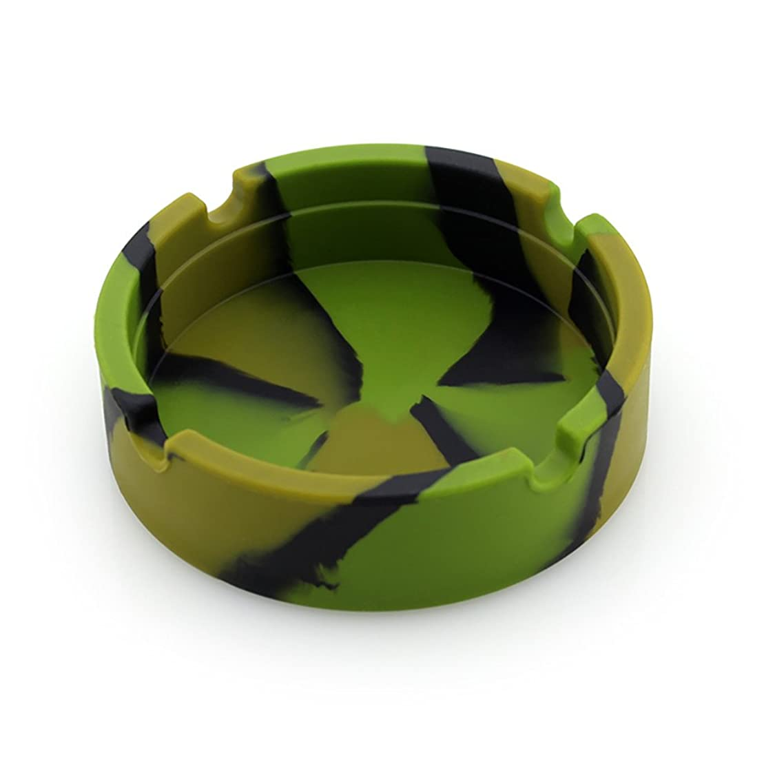 Gotian Silicone Ashtray Premium Silicone Rubber High Temperature Heat Resistant Round Design Ashtray Easy to Carry Bendable Unbreakable Ashtray (Camouflage)