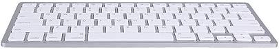 Wendry Schlanke Bluetooth-Tastatur mit 78 Tasten Leise BT 3 0-Funktastatur Kompatibel mit den meisten Bluetooth-f higen Tablets Laptops und Computern Silber Schätzpreis : 12,89 €