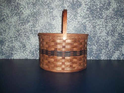 Amish Handmade Primitive Country Double Pie Carrier Basket with Tray...