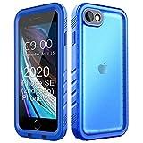 Cozycase Funda Impermeable para iPhone 8/ iPhone7, Waterproof Case a Prueba de choques a Prueba de Polvo Anti-rasguños Full Body Protector Case de Pantalla Submarino Caso (iPhone 8(4,7'), Azul)