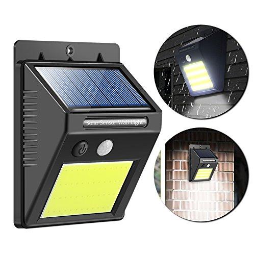 ShangSky Solarlampen für Außen,P65 Wasserdicht,Auto Sensing,48 Stück LED Perlen,3 Modi Solarbetriebene Kabelloses Sicherheitslicht für Gärten