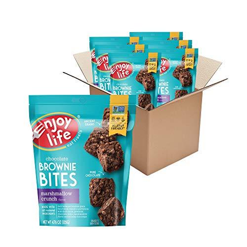 Enjoy Life Marshmallow Crunch Brownie Bites, Soy Free, Dairy Free, Non GMO, Gluten Free, Vegan, Nut Free Brownies, 6 Boxes