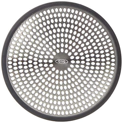 OXO Good Grips Filtro para fregadero - Protector desagüe baño - Acero Inoxidable