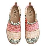 UIN Desigual Art Zapatos Rosa Casual comodas el naturalista imprimio Mujer, Lona,Vestir,Plano,Mocasines Verano,niña,señora, Zapatillas Viaje Seguridad 42