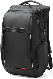 Kingsons Mochila con USB Puerto de Carga Business Laptop Backpack para Hombres y Mujeres Anti - Theft Waterproof Backpack ks3140w,Black,15 Pulgadas/a