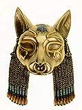 Veronese - Máscara de diosa egipcia, 20 cm, decoración de pared, figura de farao, bronce
