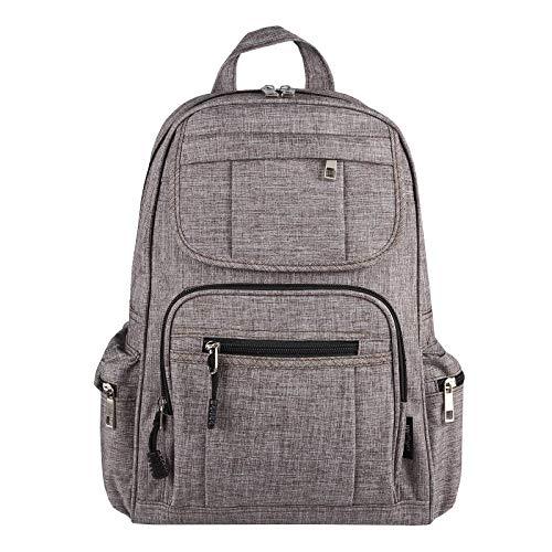 OBC Damen Rucksack Tasche Schultertasche Canvas Nylon Daypack Backpack Handtasche Tagesrucksack Cityrucksack (Taupe)