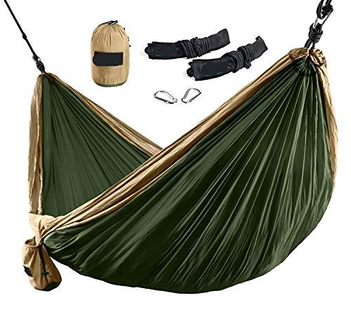 Camping hammock Camping Hammock - Lightweight Nylon Portable Hammock, Best Parachute Double Hammock For Backpacking, Camping, Travel, Beach, Yard. Red 300x200cm ( Color : Green , Size : 300x200cm )