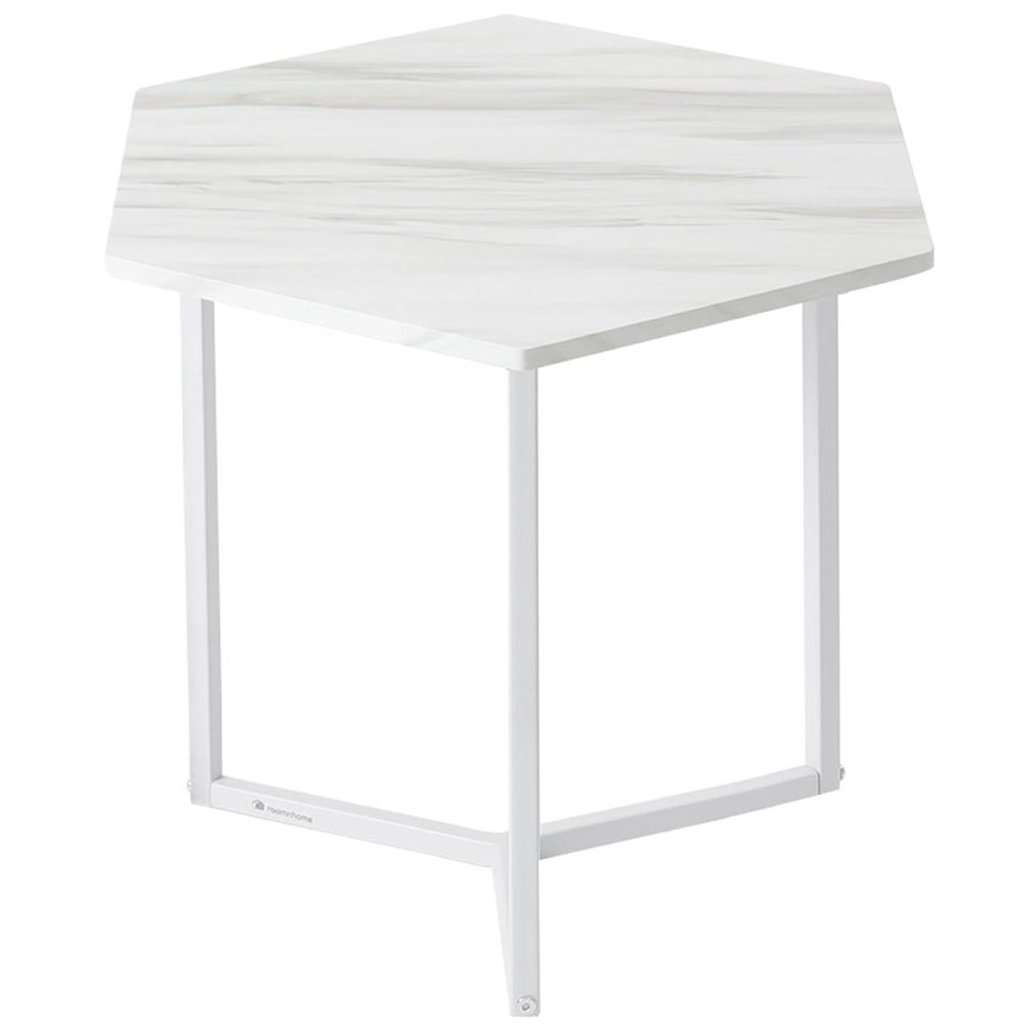 代表よろめくバタールームアンドホーム テーブル 六角 ノルディック ホワイト 37×37×45cm