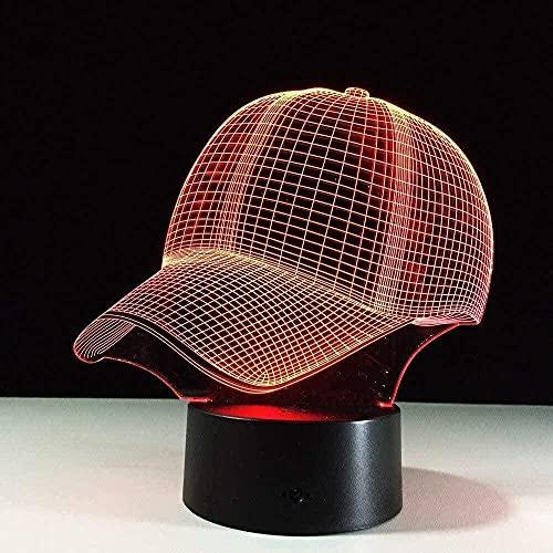 Luz nocturna 3D con control remoto de 16 colores, luz de humor para niños creativos, fuente de luz LED, regalo de Navidad, béisbol