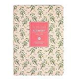 Lirener Tagesplaner Wochenplaner undatierter wöchentlicher und monatlicher Planer Kalender Organizer, Tagesplaner Buchkalender - Best Gratitude Tagebuch zu erhöhen Produktivität, Blumenmuster