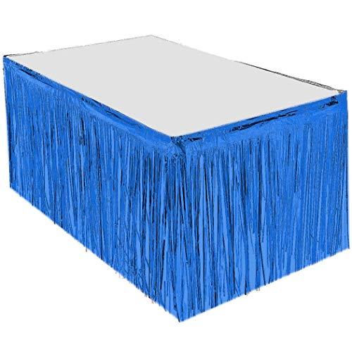 EHLIE - Party-Tischröcke in Blau, Größe One Size