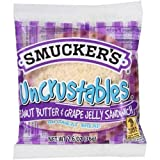 Smuckers Uncrustables Peanut Butter and Grape Jelly Wheat Bread Sandwich, 2.6 Ounce -- 72 per case.