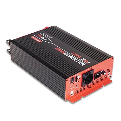 ECTIVE 1500W 24V zu 230V TSI-Serie Reiner Sinus Wechselrichter mit NVS in 6 Varianten: 500W - 3000W