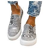BIBOKAOKE Segelschuhe Damen Low Top Turnschuhe Mädchen Plateau Segeltuch Flache Schuhe Plattform Loafers Sneakers Sommerschuhe Canvas Flache Schuhe Slip-Ons Freizeitschuhe Walkingschuhe
