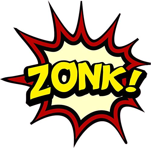 NetSpares 121022420 1 x Aufkleber Zonk. Bang Boom Pang Spruch Comic Sticker Tuning Decal Fun Gag