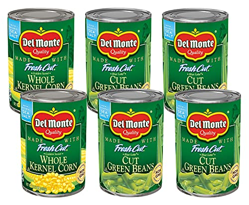Del Monte® Fresh Cut® Variety Pack 6 Ct.- 4-14.25 Blue Lake Cut Green Beans, 2-15.25 oz. Whole Kernel Corn