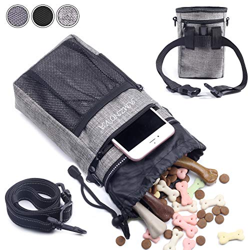 Lowest Prices! AMZNOVA Dog Treat Pouch, Lightweight & Portable Dog Walking Treat Bag to Carry Toys, ...