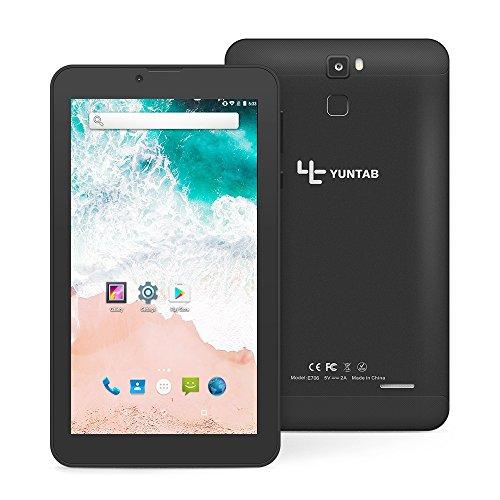 YUNTAB E706 7 Zoll Tablet, RAM 1 GB + ROM 16 GB, mit Dual-SIM-Steckplatz, WLAN, Bluetooth, Unterstützung von 2G, 3G-Anruf, Android 7.0-System (Schwarz)