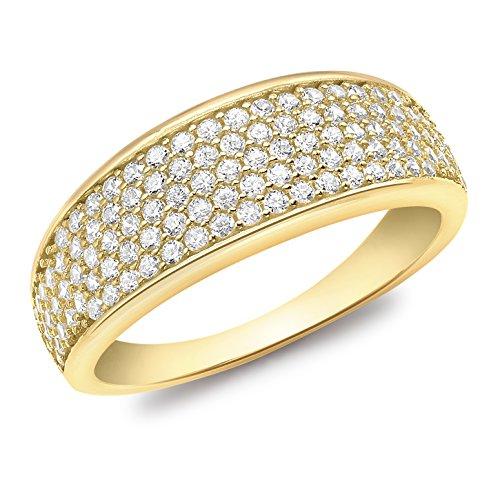 Carissima Gold Anello da Donna Oro Giallo 9K Zirconia Cubica - Misura 58 (18.5)