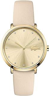 Lacoste Moon 2001030 - Reloj de cuarzo para mujer (acero inoxidable, correa de piel de becerro), color blanco
