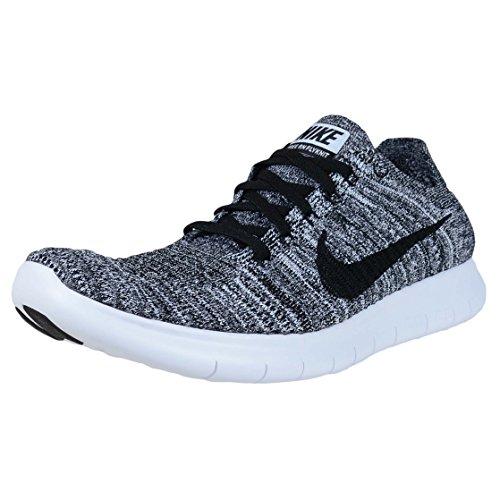 Nike Wmns Free RN Flyknit, Scarpe da Running Donna, Bianco (White/Black) (Nero), 36 EU