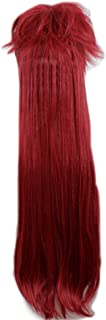 FWHWJ Black Butler Grell Sutcliff Cosplay Wig Red 90cm Long Straight Wig